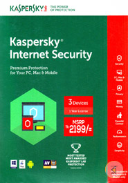 Kaspersky Internet Security 2018 (Premium Protection for your PC, Mac And Mobile) (1 year) - 3 Users
