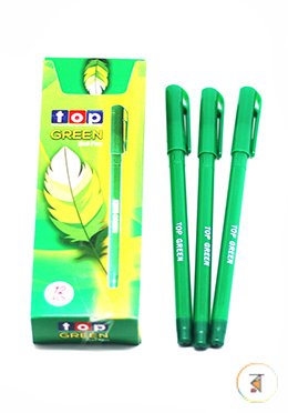 Top - Janani Green Color Ball Pen -12 Pcs