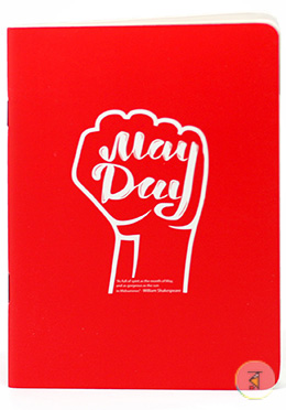 May Day Pin Notebook - Red Color (SN201903102)