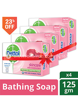 Dettol Skincare Bathing Bar Soap -125gm - Combo (4 Pcs)