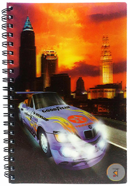Racing Car 3D printed notebook - 240 Pages