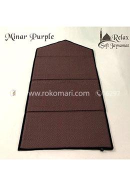 Minar Relax Foam Padded Jaynamaz - Purple Color