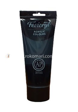 Fevicryl Acrylic Colours (MARS BLACK) - 200 ml