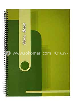 Hearts Students Notebook (Green and Lime Green Color)