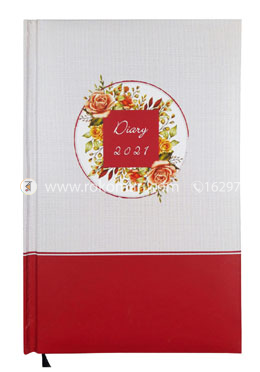 Heart's General DIARY - 2021 (White And Maroon Color)