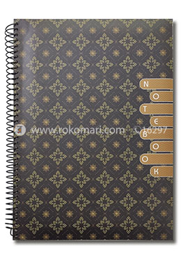 Hearts Daily Essential  Notebook - (Light Maroon Color)