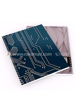 Circuit Design - Spiral Notebook [100 Pages] [Medium] [off-White Offset Paper]