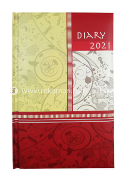 Heart's General DIARY - 2021 (Red and Off White Color)