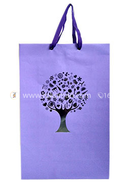 Hearts Smart Gift Bag Big - 01 Pcs (Violet Color-Any Design)