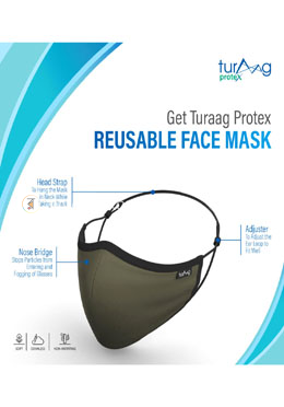 Turaag ProteX Three Layered Face Protection Mask For Women - 2 Pcs