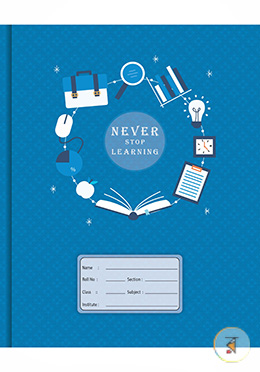 Pearl Binding Khata Never Stop Learning Design (Margin) - 300 Pages