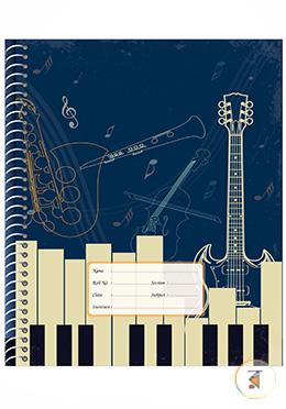 Floral Spiral English Khata - 120 Pages (Guitar Design)