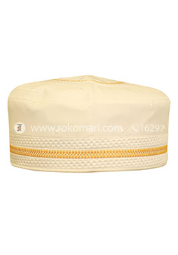 Abbas Prayer Cap - Golden Design Tupi