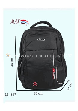 Max School Bag (Black Color)