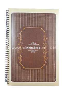Hearts Essential Notebook - Choclate and Brown Color Design