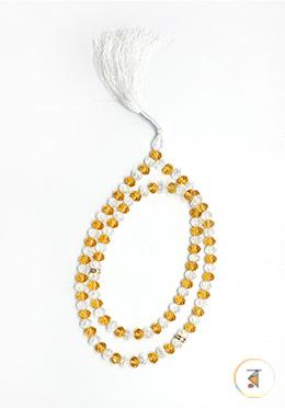 Crystal White and Yellow Stone Tasbih