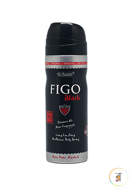 Al-Nuaim Body Spary Figo Black - 200ml (Alcohol Free)