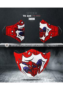 Fabrilife Premium 5 Layer Spider Kids Designer Edition Cotton Mask