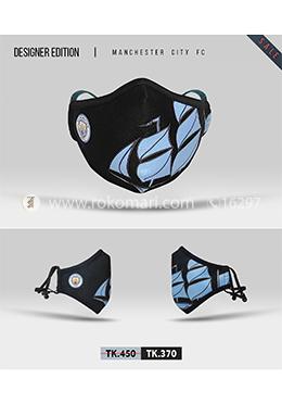 Fabrilife Premium 7 Layer Manchester City FC Designer Cotton Face Mask
