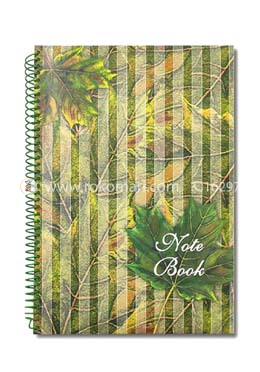 Hearts Essential Notebook - Leaf Design