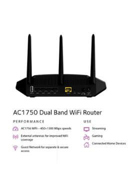Wireless Ac1750 Mbps Dual Band Gigabit Smart Wifi Router (R6350) Mug FREE