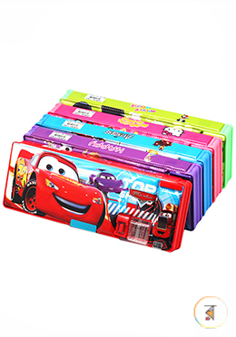 Pencil Box 883 With Cutter Box And Double Chamber - 01 Pcs (Any Style and Color)