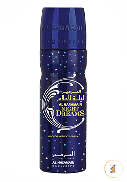 Al Haramain Night Dreams (Deodorant Body Spray)- 200ml for Unisex