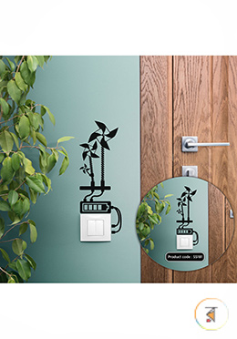 Eco - Friendly Windmills Switch And Socket Vinyl Decals Removable High Quality Wall Sticker - (SS181)