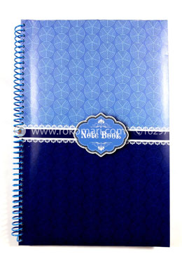 Hearts Essential Notebook -Light and Deep Blue Design