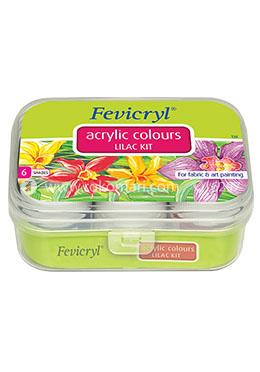 Fevicryl Acrylic Colour- Lilac Kit -60 ml (6 Shades)