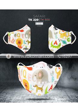 Fabrilife Premium 5 Layer Safari Kids Designer Edition Cotton Mask