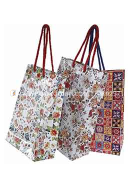 Hearts Design Gift Bag Small - 01 Pcs (Multi Color-Any Design)