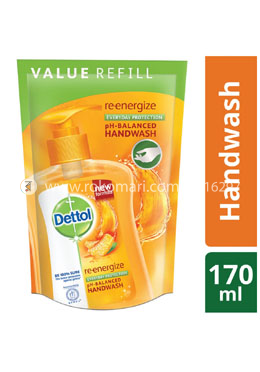 Dettol Handwash Re-energize Refill - 170ml