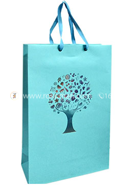 Hearts Smart Gift Bag Small - 01 Pcs (Sky Color-Any Design)