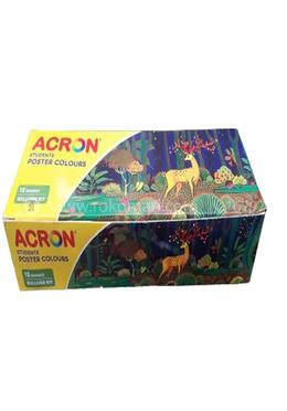 Acron Students Poster Colours Gulliver Kit - 120 ml (10ml bottles of 12 shades)