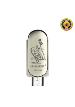Teutons Metallic Slender OTG Flash Drive USB 3.1 Gen 1 – 64GB (Silver)