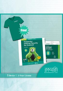 Kaspersky Internet Security for Android (1 year) 1 Device With Free T-Shirt