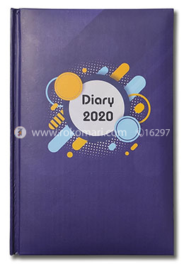 Hearts General Diary-2020 (Purple Color-Jupiter Design)
