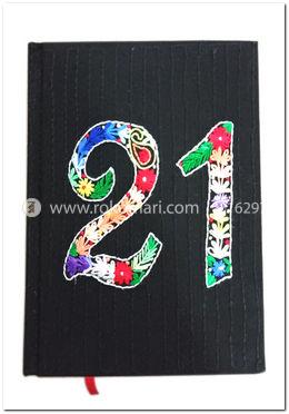 Black Color 21 Nakshi Notebook - NB-N-C-86-1025