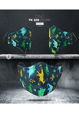 Fabrilife Premium 5 Layer Dino Kids Designer Edition Cotton Mask