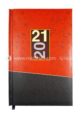 Heart's General DIARY - 2021 (Red and Black Color)