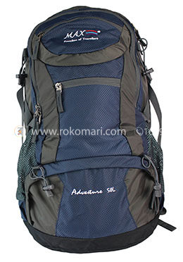 Max Travel Bag (Ash and Blue Mixed Color)
