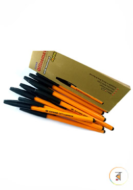 Econo Officemate Ball Pen (Black - 30  Pcs) With Thinos Chips Free