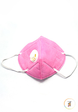 Mouth Mask PM2.5 Anti Dust Pollution (Pink Color)