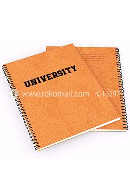 Khata University Design - Brown Cover (200 page )(RV-36)