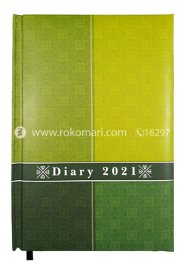 Heart's General DIARY - 2021 (Green, Light Green Color)