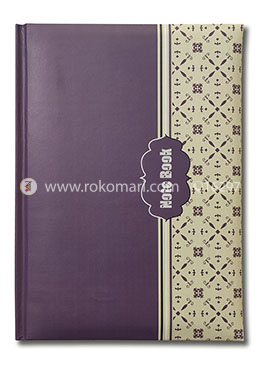 Hearts Daily Notebook - (Light Violet and Cream Color)