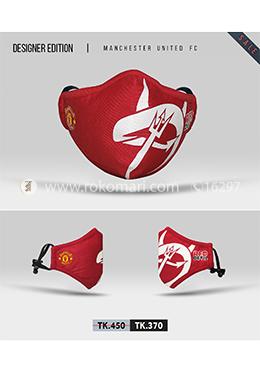 Fabrilife Premium 7 Layer Manchester United FC Designer Cotton Face Mask
