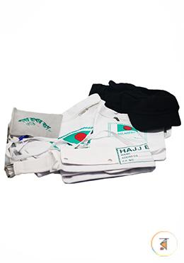 Hajj Accessories for Women (Drawstring Bag, Shoe Bag, Ihram Belt, Stone Bag)