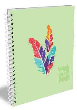 Hearts Stylus Notebook (Sage Color)